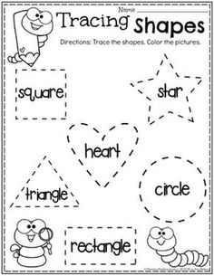 Free printable shapes worksheets for toddlers and preschoolers. Preschool shapes activities such as find and color, tracing shapes and shapes coloring pages. Preschool Learning Activities, Free Preschool, Preschool Printables, Preschool Lessons, Learning Games, Preschool Activity Sheets, Preschool Science, Science Fun, Physical Science