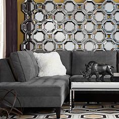 Add some modern reflection to your living room.