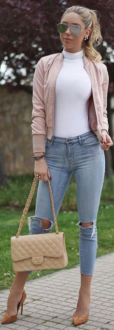 Doll Status - Missguided Turtleneck , Rag and Bone Jeans , Ivyrevel Jacket Chanel Bag -   Fashion by Ela Mois