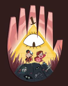 "kritterart: ""My piece for the ""Farewell to the Falls"" Gravity Falls galler. kritterart: ""My piece for the ""Farewell to the Falls"" Gravity Falls gallery at Gallery Nucleus tomorrow (Saturday, Aug Dipper And Mabel, Dipper Pines, Monster Falls, Desenhos Gravity Falls, Gavity Falls, Gravity Falls Fan Art, Reverse Falls, Creepy, Autumn Art"