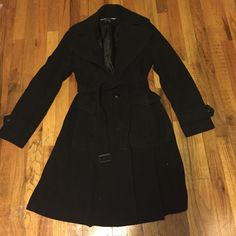 DKNY Wool- Blend Belted Trench Coat Long wool- blend belted trench coat. Warm and stylish, perfect for the season and for any occasion. DKNY Jackets & Coats Trench Coats