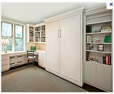 multi-purpose room: cottage style murphy bed, home office