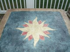 Stamped Concrete Table - Charlotte NC.  Repin & Click For More Info or Quote @ Your Home / Business.