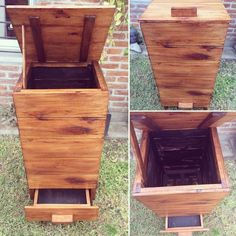 Wooden Compost Bin, Potager Garden, Garden Compost, Gardening, Pallet Garden Furniture, Vegetable Garden Design, Woodworking Projects Diy, Autumn Garden, Raised Garden Beds
