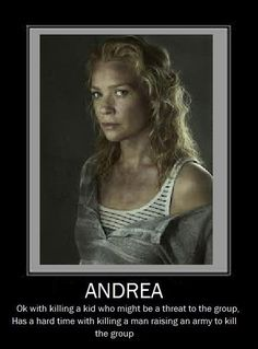 """How easily Andrea's problems could have been solved:   The 33 Most Frustrating Things About """"The Walking Dead"""""""