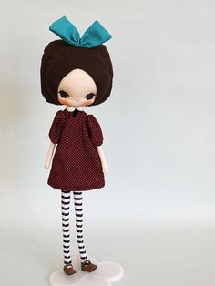 evangelione dolls via flickr...love the outfit with the big teal bow