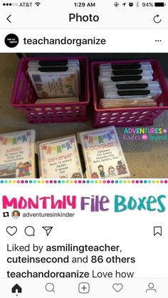 Adventures in Kinder and Beyond: Search results for monthly file boxes Daycare Organization, Classroom Organisation, Classroom Management, Daycare Storage, Teacher Storage, Organizing Paperwork, Organizing Ideas, Classroom Setup, Kindergarten Classroom