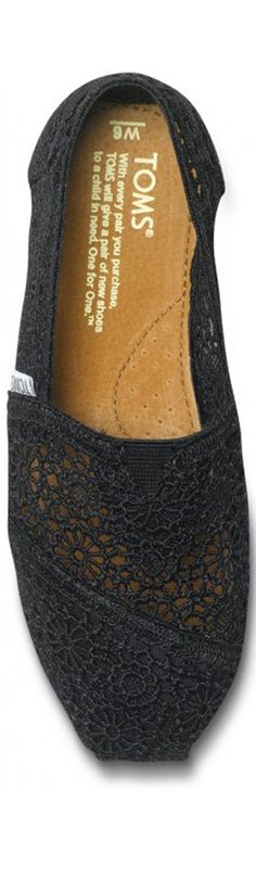 My wardrobe stylist! toms shoes crochet +black !!Loveee these shoes!!$27