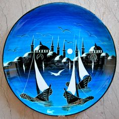 Çini Turkish Plates, Turkish Art, Glass Painting Designs, Paint Designs, Cup Art, Glazes For Pottery, China Painting, Tile Art, Ceramic Plates