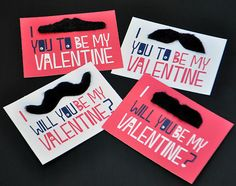 """I """"moustache"""" you to be my valentine - printable (smile)"""
