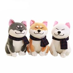 Wear scarf Shiba Inu dog plush toy soft stuffed dog toy good valentines gifts for girlfriend Color:white;gray Material: pp cotton Package Shiba Inu dog plush toy  Kids Pillows, Animal Pillows, Akita, Pet Toys, Doll Toys, Kids Toys, Baby Toys, Chien Shiba Inu, Doge Dog