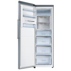 Lodówka jednodrzwiowa typu Twin No Frost Tall Cabinet Storage, Locker Storage, Drain Away, Samsung, Real Steel, Storage Solutions, Freezer, Drawers, Shelves