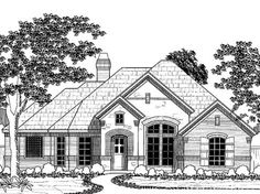 french country house plan with 2177 square feet and 4 bedrooms from dream home source - 1 Story French Country House Plans