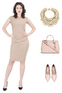 A fashion look from February 2016 featuring high heeled footwear, satchel purses and kate spade necklace. Browse and shop related looks. Kate Spade Necklace, Satchel Purse, Office Outfits, Ss16, Spring 2016, Women's Clothing, Fashion Looks, Michael Kors, Shoe Bag