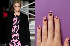 How to Create Girly Graffiti Nail Art