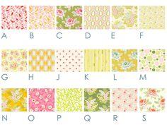 Vintage Flowers - Custom Crib Bedding Set - Blanket, Fitted Sheet, Crib Skirt - Aqua Blue, Green, Yellow, Pink, Orange. $185.00, via Etsy.