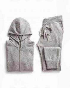 Women's Weekend Set - Cashmere Zip Hoodie & Pants