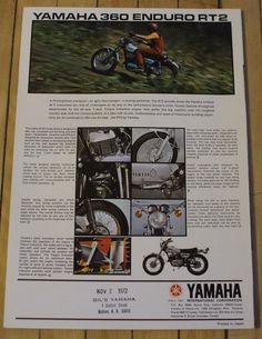 345 best 1972 yamaha rt2 images on pinterest in 2018 motorcycles 1972 Yamaha LS2 1972 yamaha 360 enduro rt2 motorcycle dealer sales brochure nice