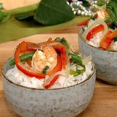 Tracy Fitzpatrick's Green Curry Shrimp recipe. #thechew