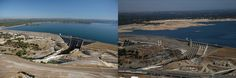 Lake Oroville water levels and dam