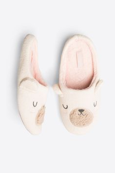 women'secret | Products | Bouclé bear slippers