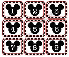 Clark FREE Mouse Calendar Numbers - lots of Mouse classroom stuff Mickey Mouse Classroom, Disney Classroom, Classroom Freebies, New Classroom, Mickey Mouse Birthday, Preschool Classroom, Classroom Themes, Kindergarten, Minnie Mouse