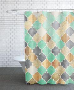 tolles badezimmer makeover mithilfe eines duschvorhangs bestmögliche pic oder ecfcbbbcbb moroccan pattern shower curtains