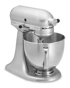 Oh, how I would love to have a Kitchen Aid Stand Mixer in chrome.