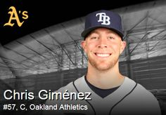 Tampa Bay Rays - 12/20/2013: Athletics claimed UTIL Chris Gimenez off waivers from the Rays.  Gimenez is a career .199/.292/.293 across parts of five seasons, but his versatility can be useful. I was sad to hear this...too bad the Rays put him on waivers & he was claimed by another team.
