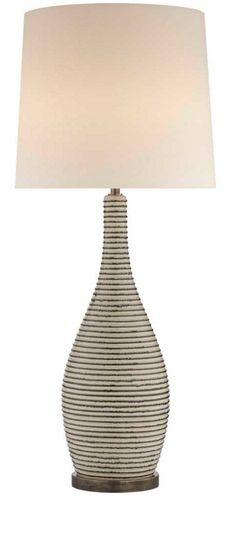 KELLY WEARSTLER | SONARA TABLE LAMP. Available in Ivory and Chalk Black Pearl