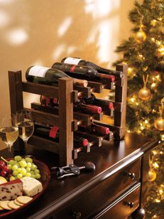 I built this wine rack which holds 12 bottles over 2 weekends. I consider this a beginner DIY woodworking project.