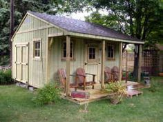 Super use of an existing yard shed added on to and put to great use!!