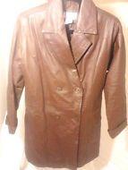 Vinatge Venezia Vitale Leather Jacket-Size 14W-Brown