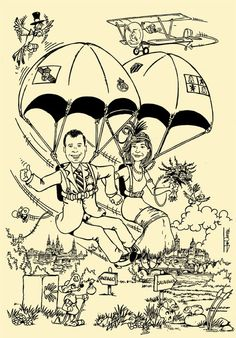 En paracaídas