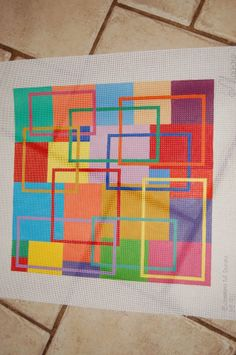 Large Handpainted Needlepoint Canvas - $95