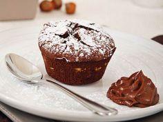 Foto del tortino cremoso al cioccolato e nocciole