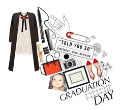 """Graduation Day Dress"" by ellare88 ❤ liked on Polyvore featuring Kerr®, Room Essentials, GHD, Gucci, Henri Bendel, Gianvito Rossi, Monki, IaM by Ileana Makri, Clinique and Casetify"