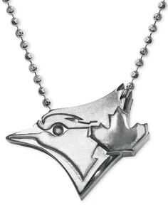 Mlb Collection by Alex Woo Sterling Silver Toronto Blue Jays Pendant Necklace