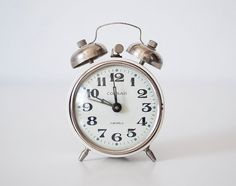 "I like this little shop called ""CuteOldThings"" on Etsy......Vintage soviet mechanical alarm clock ""Corsar"" - working condition"