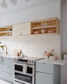 Creating our Dream Kitchen No. 2 / Semihandmade on IKEA Cabinets — Reserve Home Kitchen Interior, New Kitchen, Kitchen Decor, Kitchen Design, White Ikea Kitchen, Room Kitchen, Ikea Cabinets, Kitchen Cabinets, Kitchen Splashback Ideas