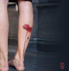 Poppy color tattoo Gilberta Vita