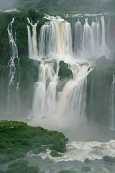 Iguassu Falls Brasil - I may need a separate board JUST for waterfalls I want to see! Beautiful Waterfalls, Beautiful Landscapes, Vacation Trips, Vacation Spots, Italy Vacation, Places To Travel, Places To See, Travel Destinations, Places Around The World