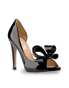 764168947132a Just added these Valentino s to my shoe collection Black High Heel Pumps