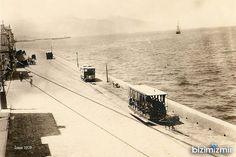 ✿ ❤ Yıl 1929. Kordon'da Atlı Tramvay, Smyrna, İzmir.