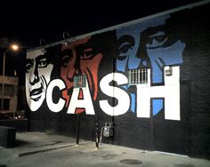 Johnny Cash Cool Johnny Cash mural on the side of a building in downtown Austin on Rio Grande just below Street.<br> Cool Johnny Cash mural on the side of a building in downtown Austin on Rio Grande just below Street. Johnny And June, Johnny Cash, Murals Street Art, Street Graffiti, Rome Catacombs, Austin Murals, Ancient Greek City, Video Leak, Neon Nights
