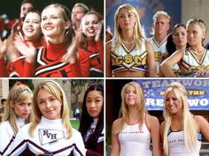 Bring It On Movies Only one that's missing is Fight to the Finish. I can't even do a cartwheel but I love cheerleading and gymnastic movies. All Movies, Iconic Movies, Bring It On Again, Movie Photo, Movie Tv, Movies Showing, Movies And Tv Shows, Famous In Love, Cheer Mom