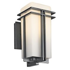 Kichler Lighting Tremillo Collection 1-light Black Outdoor Wall Lantern (Aluminum)