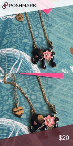 Betsey J Elephant Drop Necklace Brand new Betsey Johnson Jewelry Necklaces