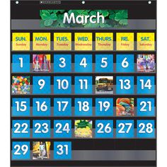 Full-color photo cards include 12 month cards, 33 date cards, 7 week days, 4 birthdays, 2 field trips, and 2 special days. Also includes a 2-page activity guide.