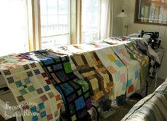 Quilts on frame at Freemotion by the River